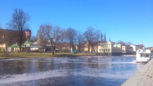 Uppsala liegt wunderschön am Fluss Fyrisån