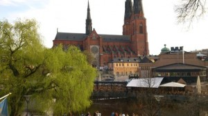 Blick auf den Dom in Uppsala