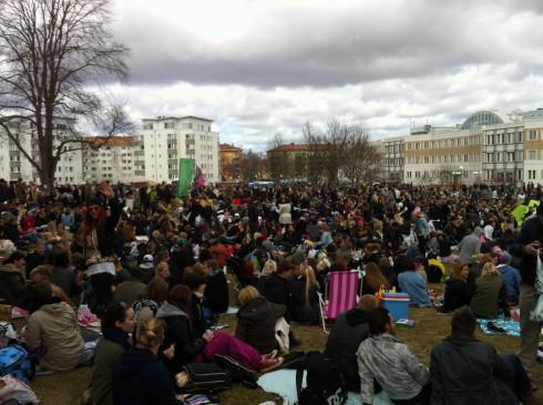 Der Himmel erzeugte dieses Jahr eine spannende Kulisse in Uppsala