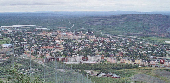 Kiruna verfügt flächenmäßig über eine gewaltige Ausdehnung