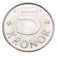 Auch die 5-Kronen-Münze ist in Schweden nach dem 30. Juni 2017 ungültig und kann mittlerweile auch nicht mehr auf das Bankkonto einbezahlt werden. Bildquelle: riksbanken.se