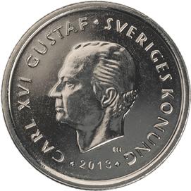 Die 1-Kronen-Münze ist in Schweden nach dem 30. Juni 2017 ungültig. Bildquelle: riksbanken.se