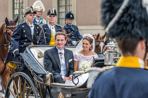 Das glückliche Paar - Prinzessin Madeleine von Schweden und Chris O'Neill bei ihrer Hochzeit