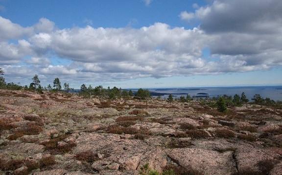 Ungewöhnliche Steinformationen in Skuleskogens Nationalpark